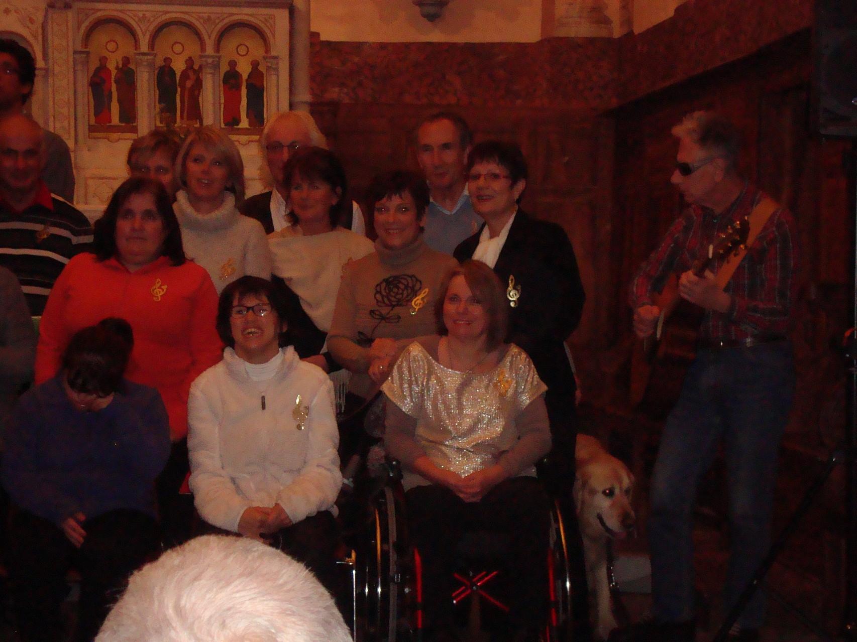 les ont suivi l'Ensemble vocal Béarn-Bigorre.Belle soirée.