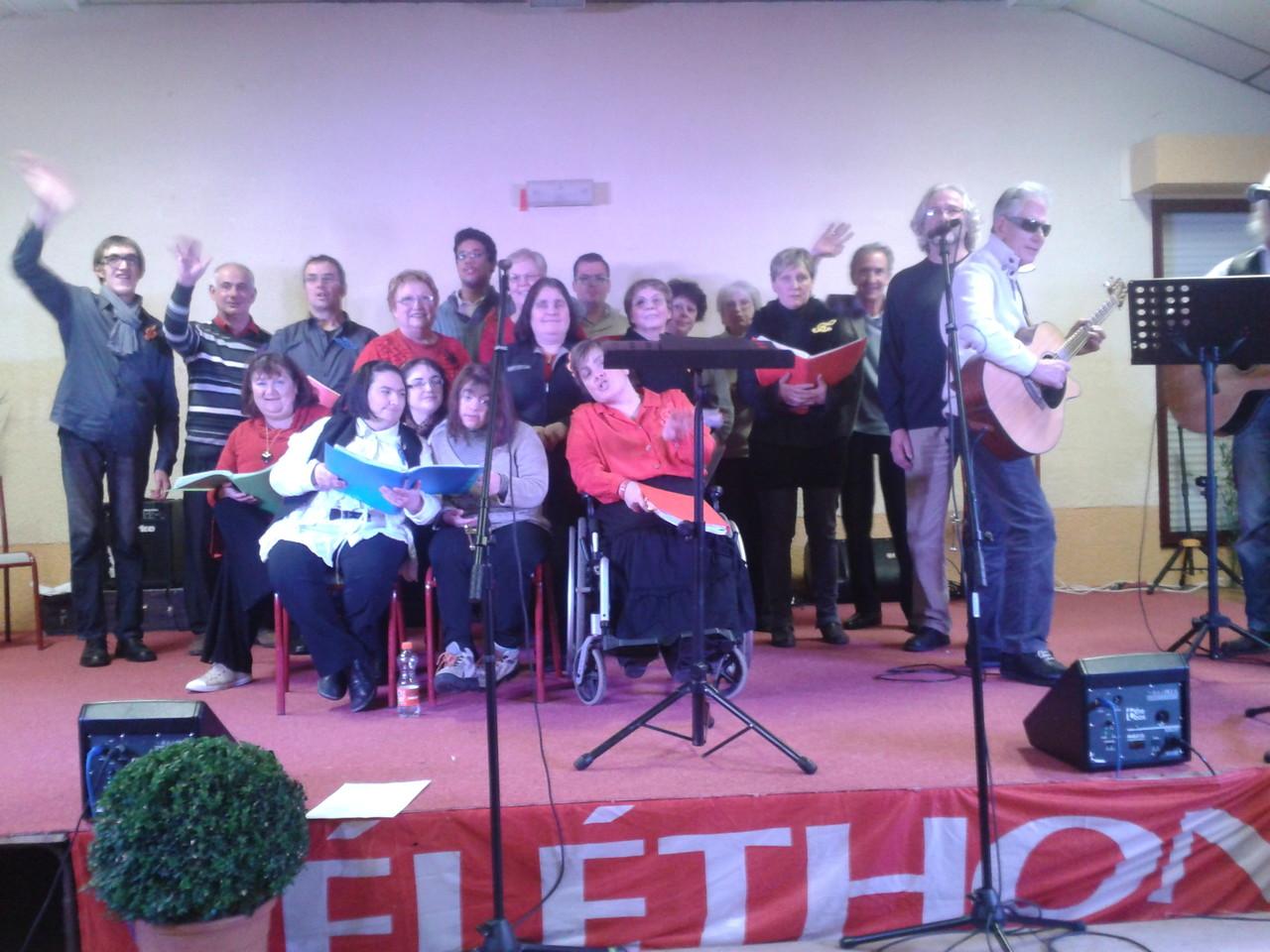 Bravo à la Chorale pour cette deuxième prestation Téléthon Juillan