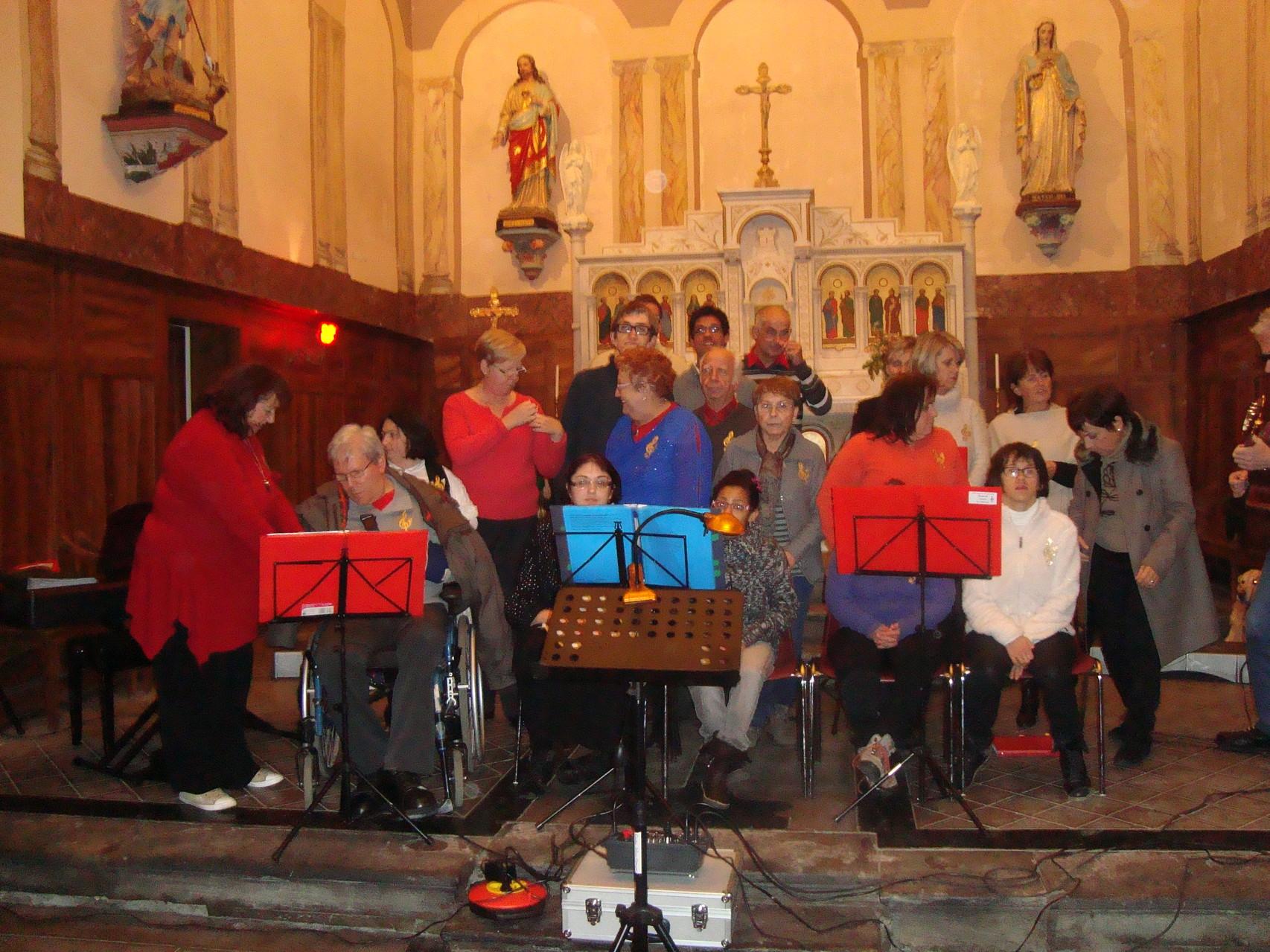 Le 14 Décembre 2013,à l'église de PUJO,préparatifs pour notre dernier