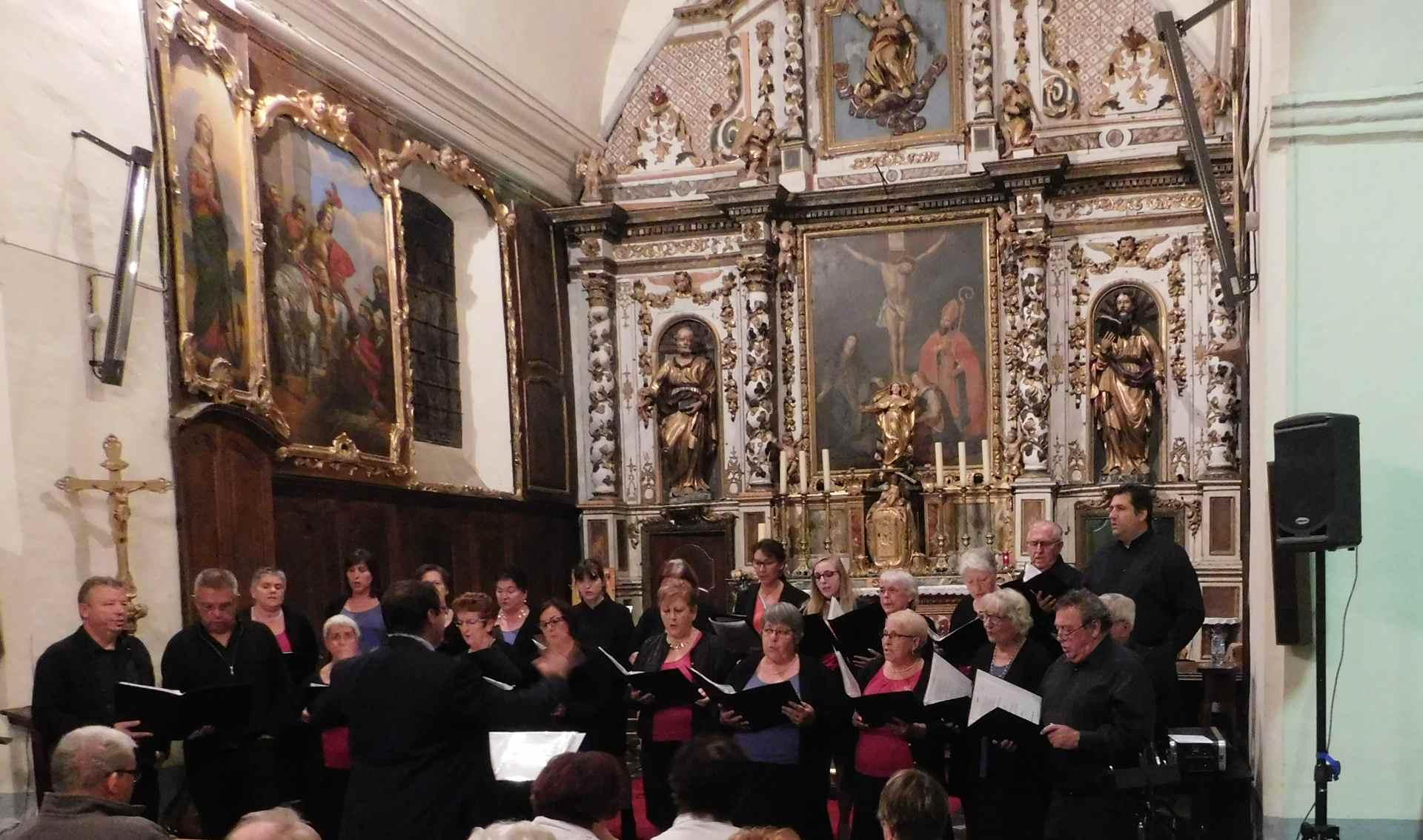 Avec la Chorale de Bordères sur Echez.
