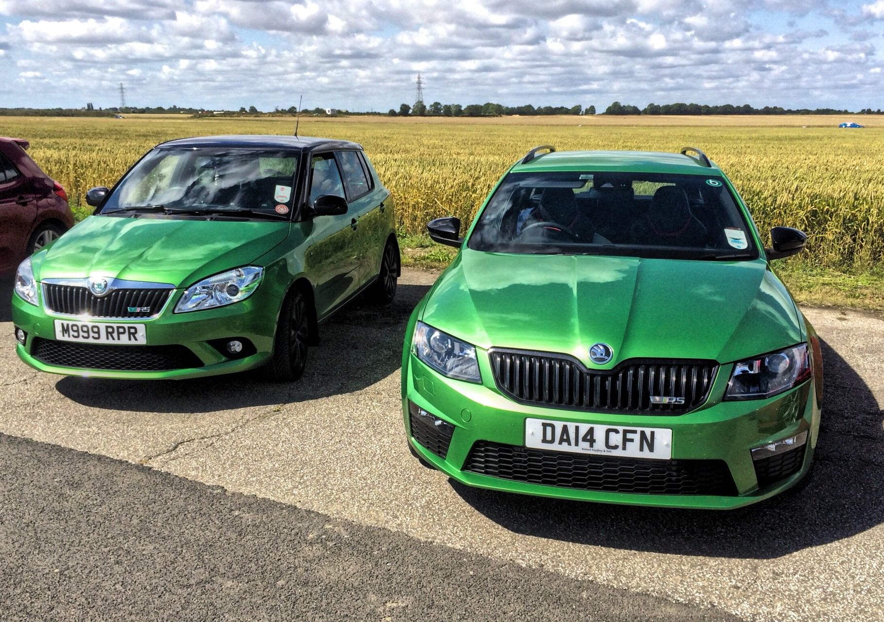 Briskoda trackday - Blyton near Scunthorpe. Your newsletter editor's car is on the left
