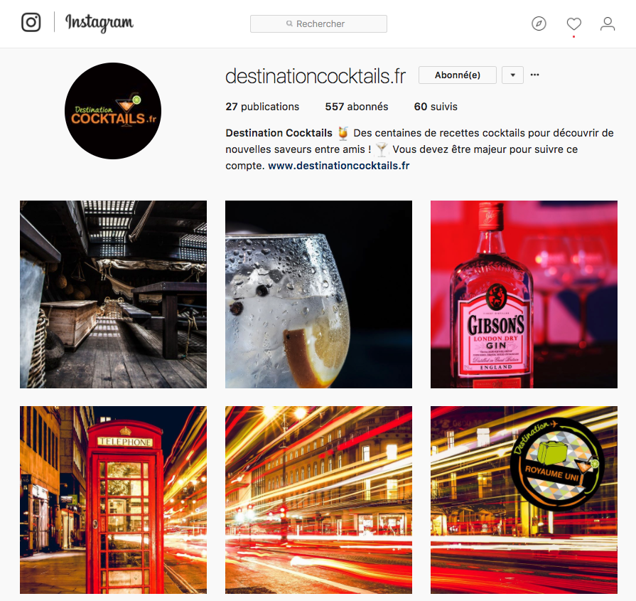 Instagram Destination Cocktails Groupe Bardinet