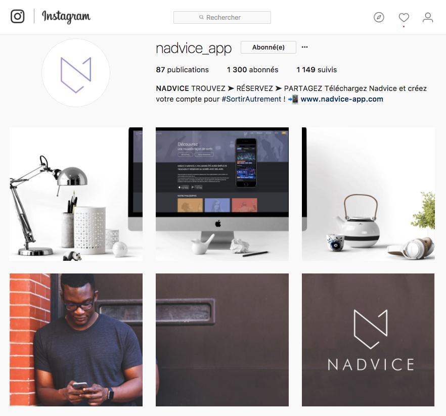 Instagram appli Nadvice