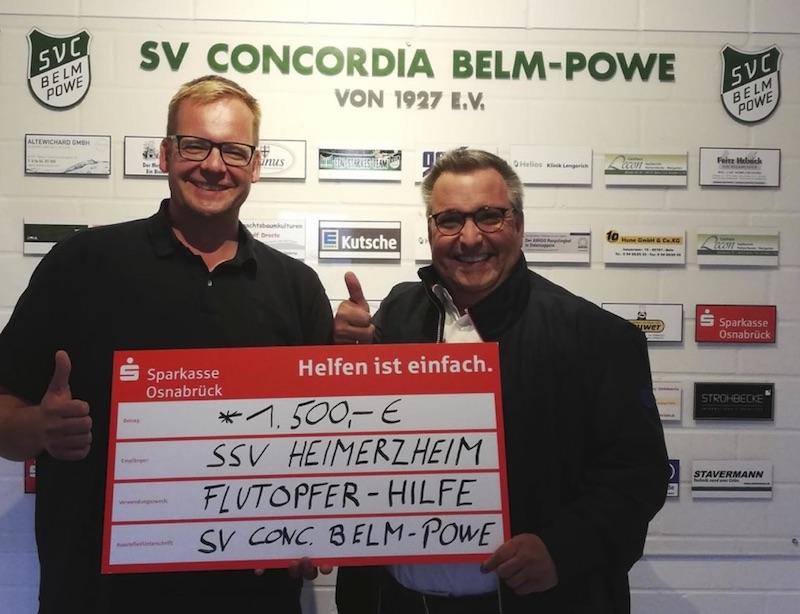 Fußballer sammeln Spenden für Flutopfer in Heimerzheim