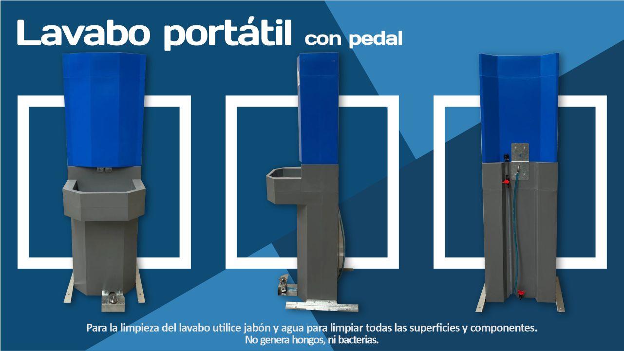 lavamanos portátil de pedal