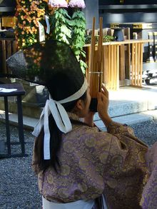 画像:笙の演奏(Wikipediaより)