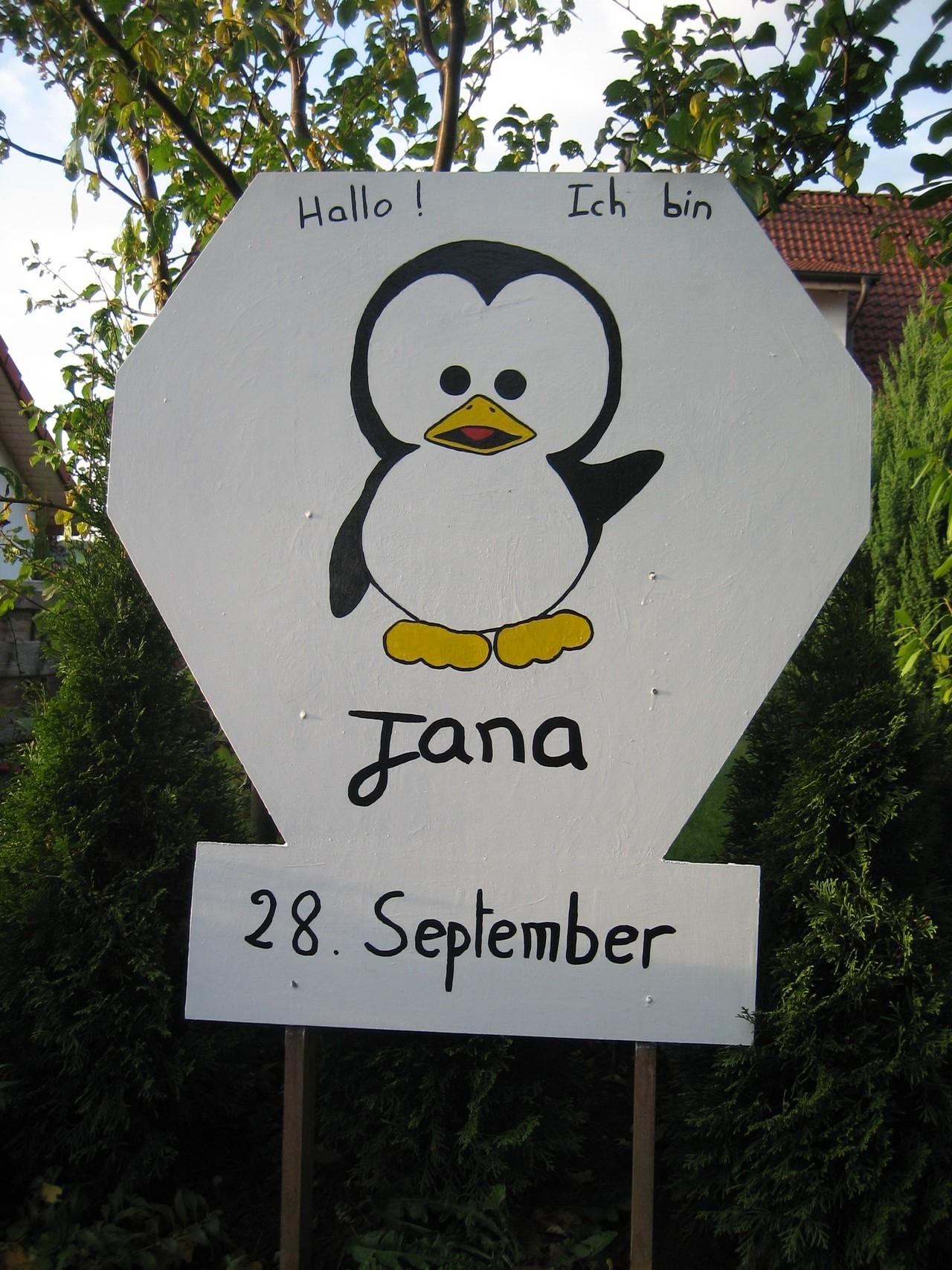 Personalisiertes Geburtsschild mit Name und Datum