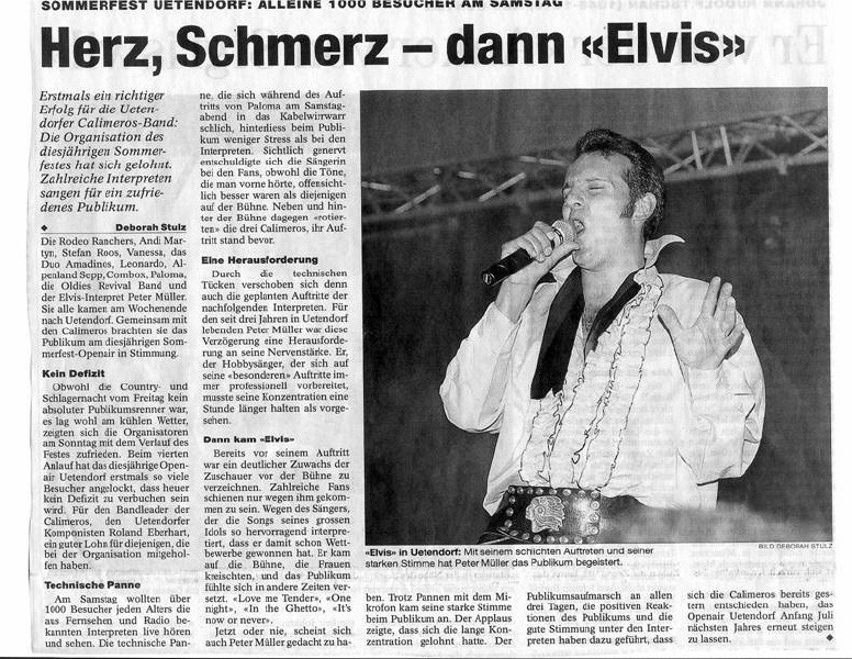 Calimeros Open AIR mit elvis presley imitator peter müller