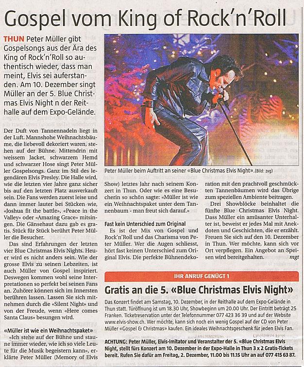 Elvis Presley Imitator Peter Müller in Concert