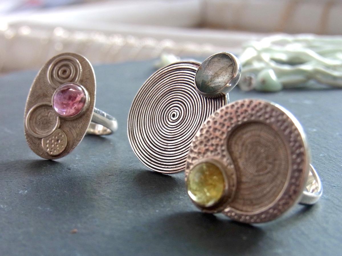 Silber Ringe Edelsteine Handarbeit