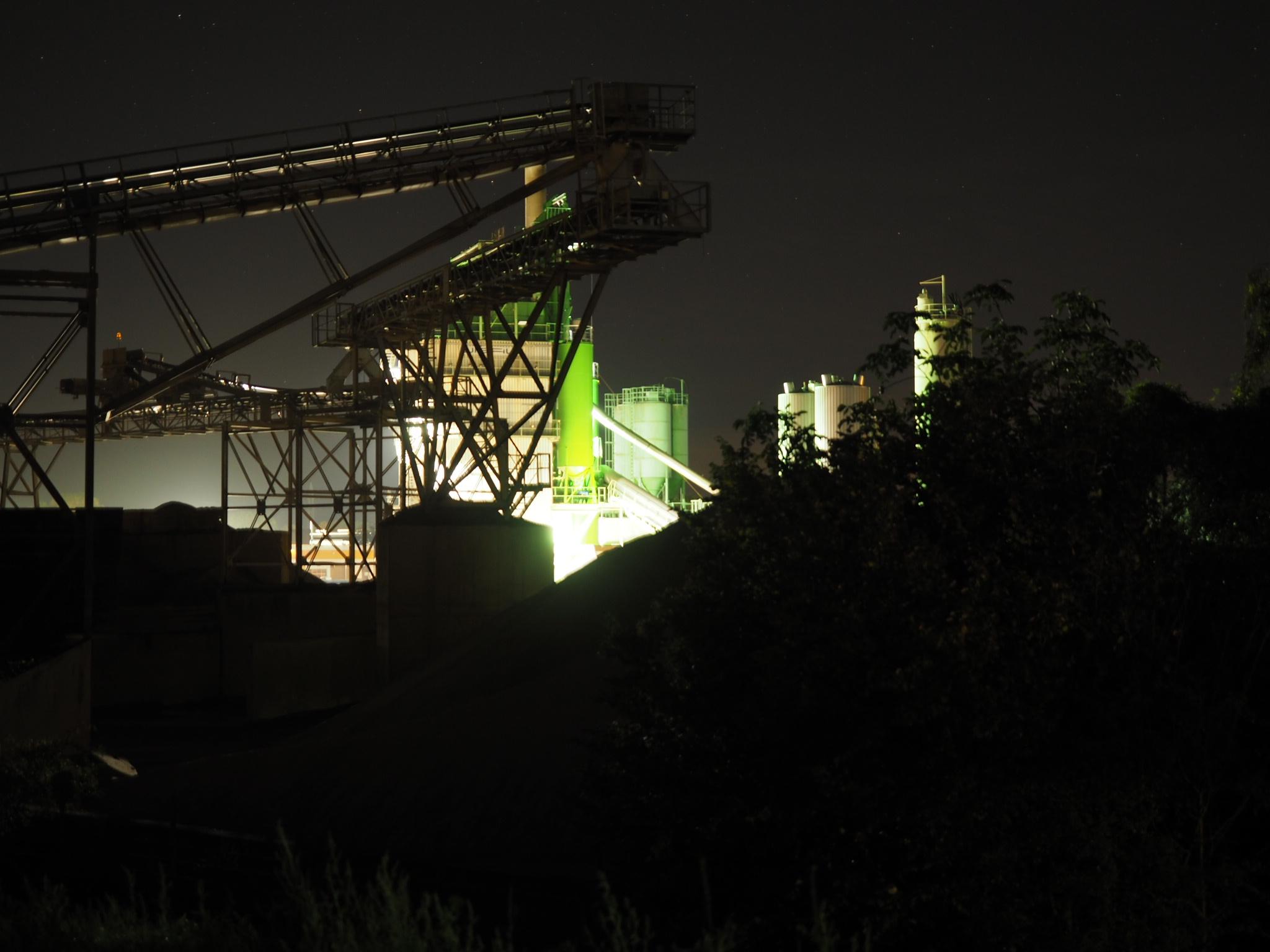 Industriegebiet in Dreye - Abfahrt