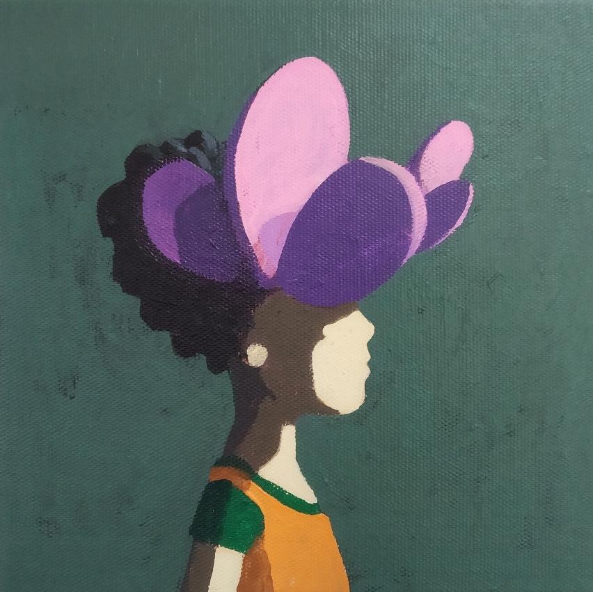like a flower - Acryl auf Leinwand, 20x20cm, 2019