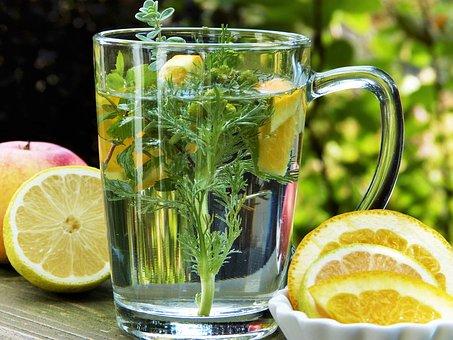 Zitronen-Kräuter-Wasser (detox)