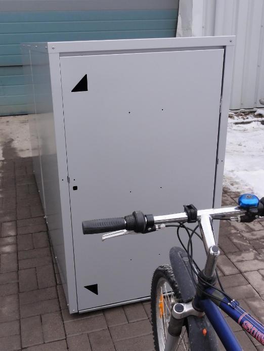 Fahrradbox / Fahrradgarage Frontansicht