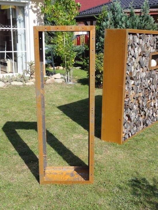 Kaminholzregal außen  Kaminholzregal außen, Kaminholzregal - metallmoebel24