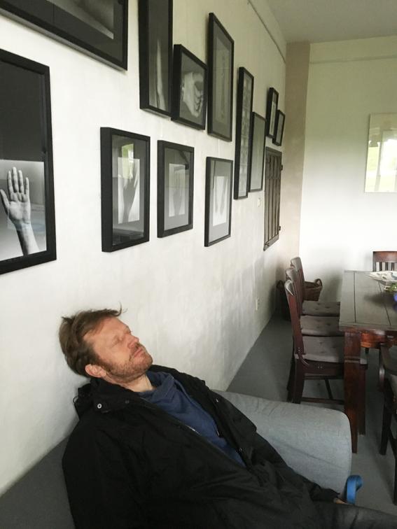 Ausruhen im Café