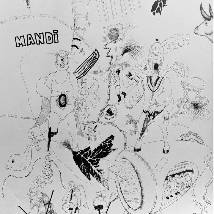 Raúl Herrera. Ink on paper. 50 x 50 cm. 2011.