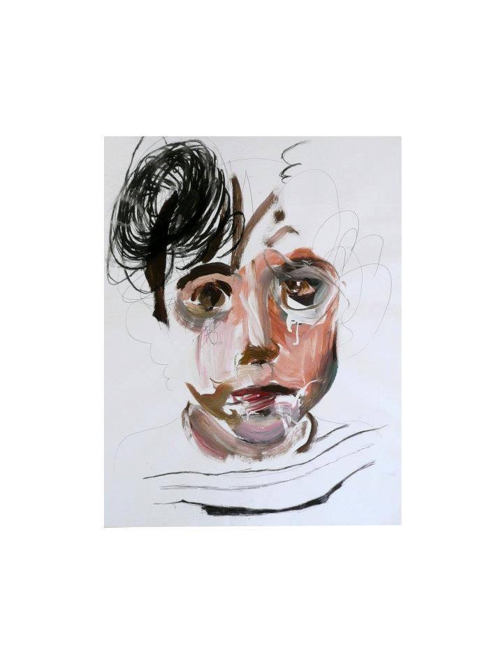 Raúl Herrera. Acrylic and charcoal on paper. 70 x 50 cm. 2012.
