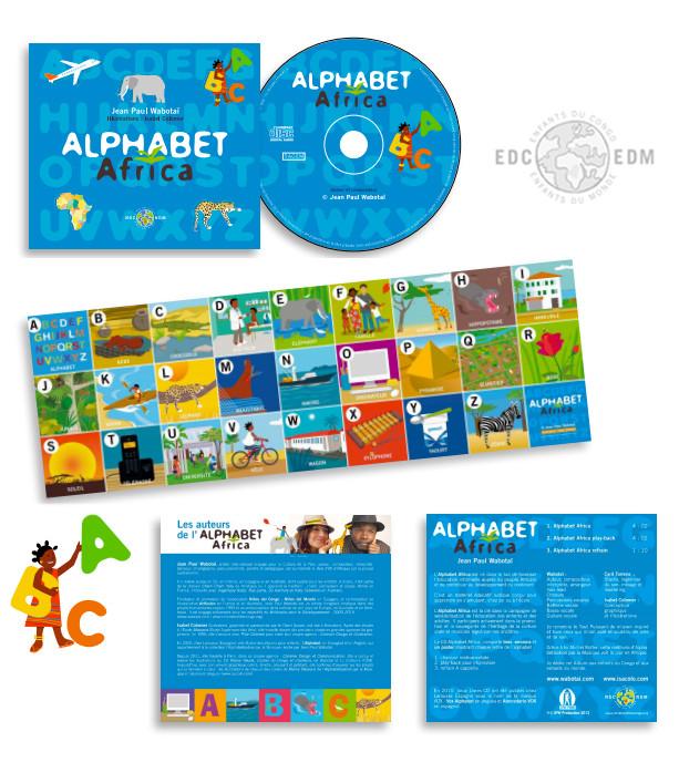 CD ALPHABET AFRICA (vers. Française) Enfants du Congo-Enfants du Monde édition 2011