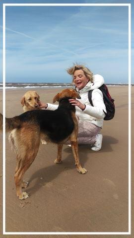 Op het strand met Ali en Sandy
