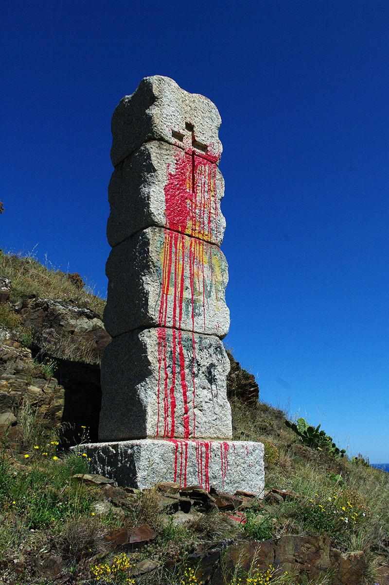 Col de Belitres - Monolithe franquiste
