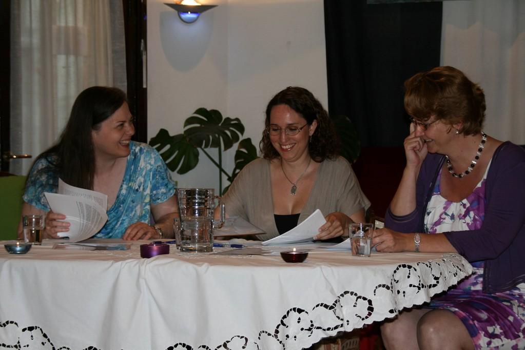 Fiona, Nicole und Karin hatten sichtlich ihren Spaß