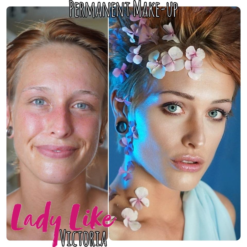 Typ-Beratung und Makeup, neue Augenbrauen