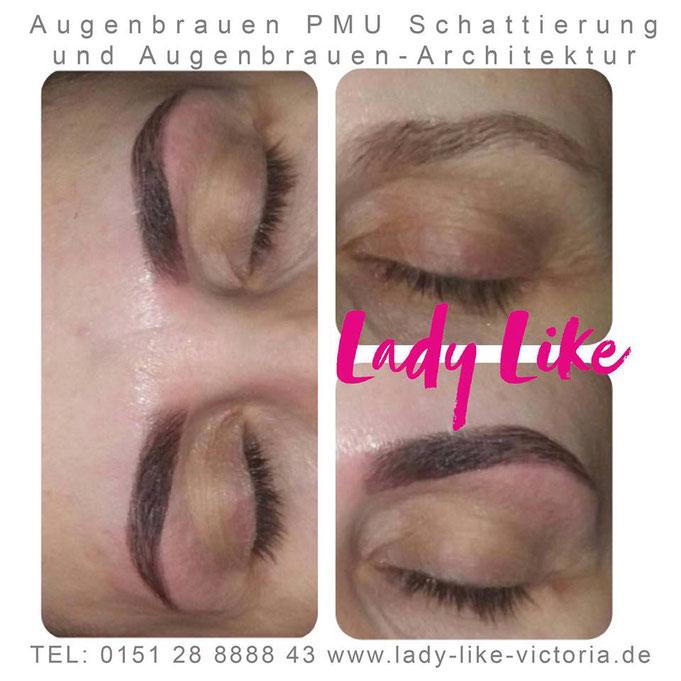 Augenbrauen Schattierung Permanent Make-up