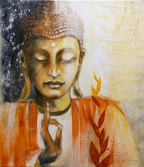Buddha gemalt von Jopie Bopp, #InnererFrieden#meditation#buddha#innereslicht