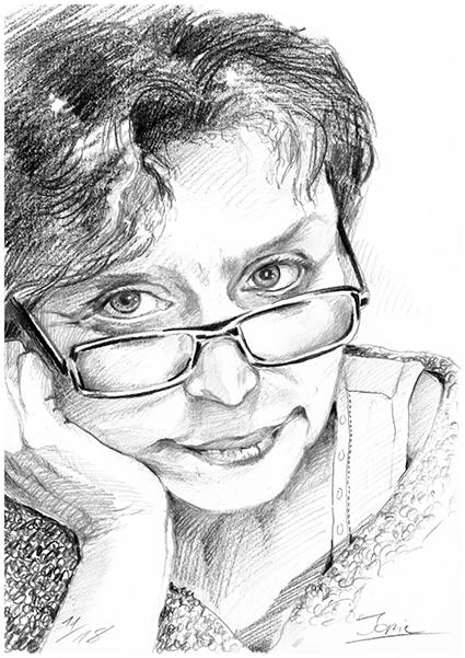 Monika Bopp, Bleistiftzeichnung, 30 cm x 40 cm