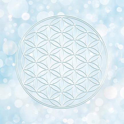 Blume des Lebens in Weiß