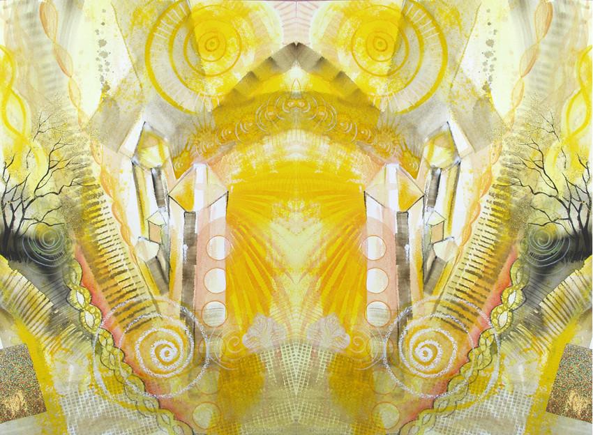 Spiegelwelt der Farbe Gelb