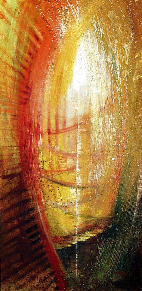 Spirituelle Bilder für Seminarräume, Lichttor / 7 Stufen zum inneren Licht, Leinwandbilder, Kunstdruck, Poster