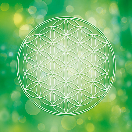 Blume des Lebens in Grün