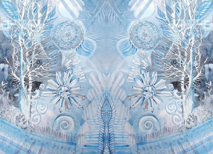 Spiegelwelt der Farbe Weiß