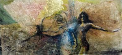 Lilith, Göttin, Leinwandbild, Kunstdruck, Frau mit Rose #Aktmalerei