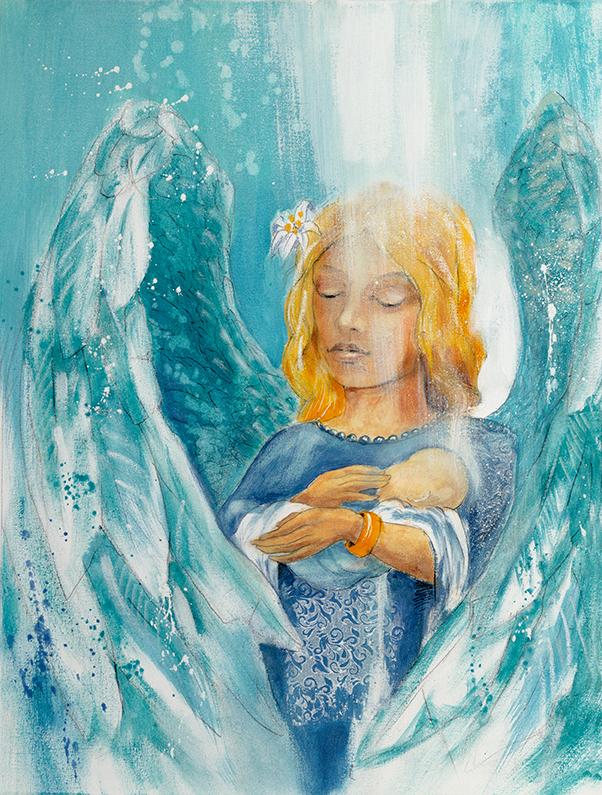 Engelbild Engel der Liebe / Kind, Jana Haas Engelkartendeck ein Engel für dich Arkana Verlag
