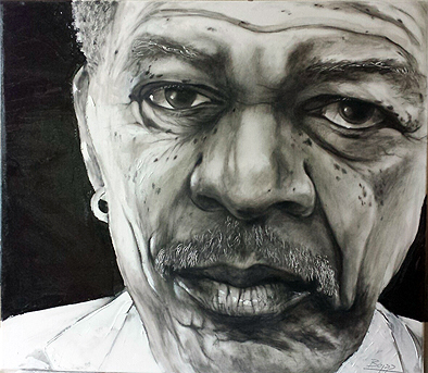 Motgan Freeman, gezeichnet von Jopie Bopp