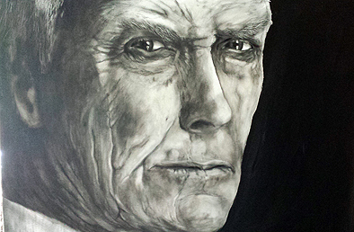 Clint Eastwood, gezeichnet von Hans-Jakob Bopp