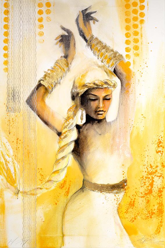 #Frauenfigur #angelface #jopie #jopiebopp #portrait #OrientalischeTänzerin #Bauchtanz #Ölfarben