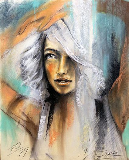 #Frauengesicht #angelface #jopie #jopiebopp #portrait #Miracle #wunder #pastellkreide #pastel