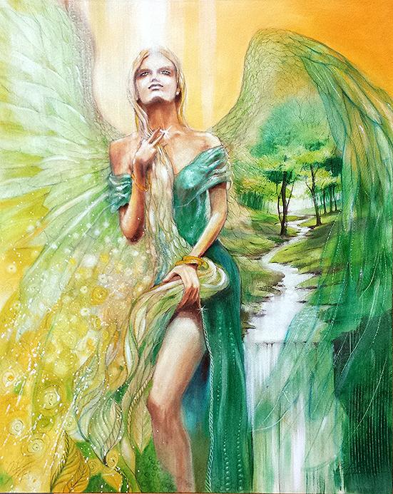 Freyja, Keltische Mutter-Göttin, Engel des Frühsommers, Leinwandbild, Kunstdruck, Poster #Engel