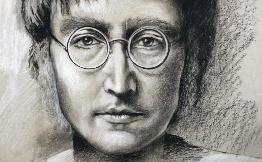 John Lenon, gezeichnet von Jopie Bopp
