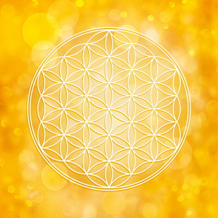 Blume des Lebens in Gold