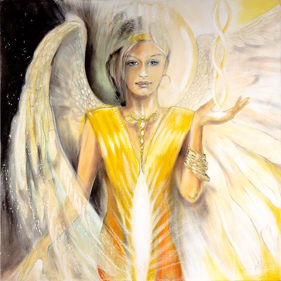 Engelbilder, Engel der Transformation, gemalt, spirituelle Bilder, Leinwandbilder, Kunstdrucke, Poster