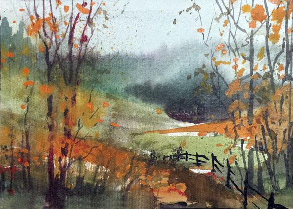 Herbst in der Au / Steinachtal