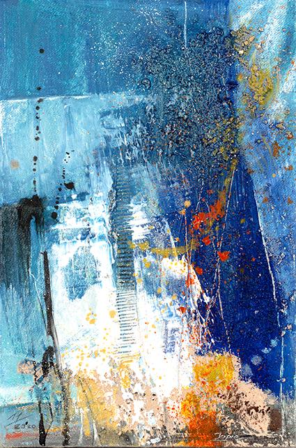 #Blau #abstraktemalerei #jopie #jopiebopp
