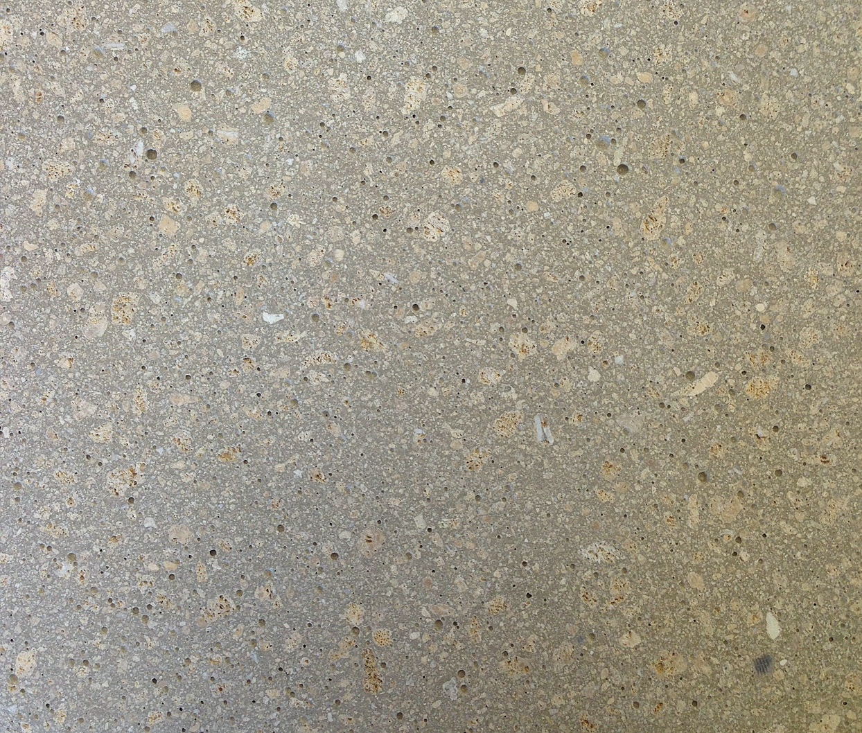 cement with sandstone, polished