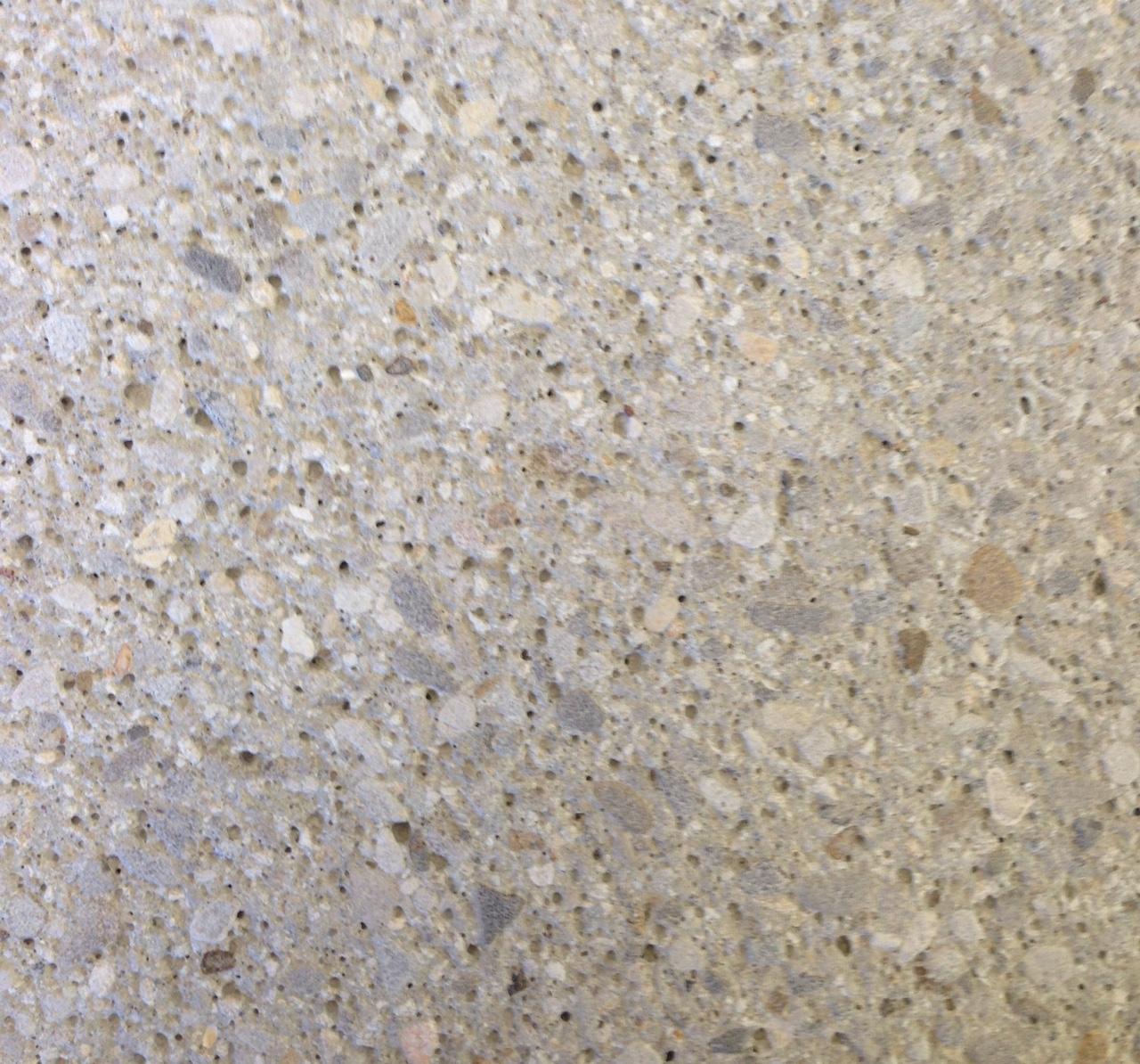 concrete with fine stones, sandblasted