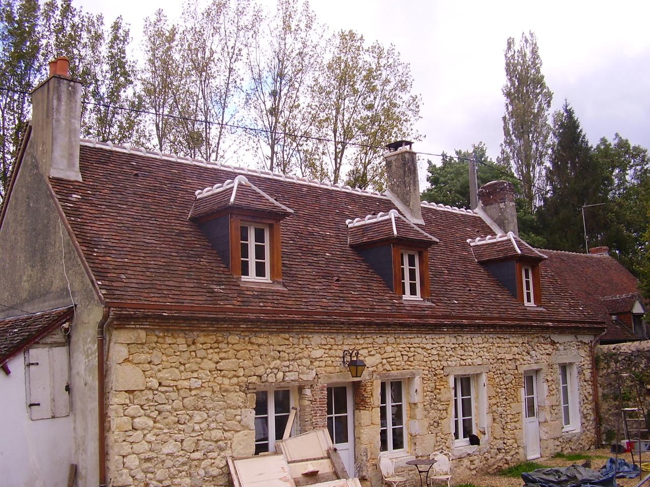 Maison après réfection de la toiture